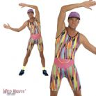 "FANCY DRESS COSTUME # MENS 1990'S WORK OUT TV FITNESS MR ENERGIZER MEDIUM 38"" - 40"""